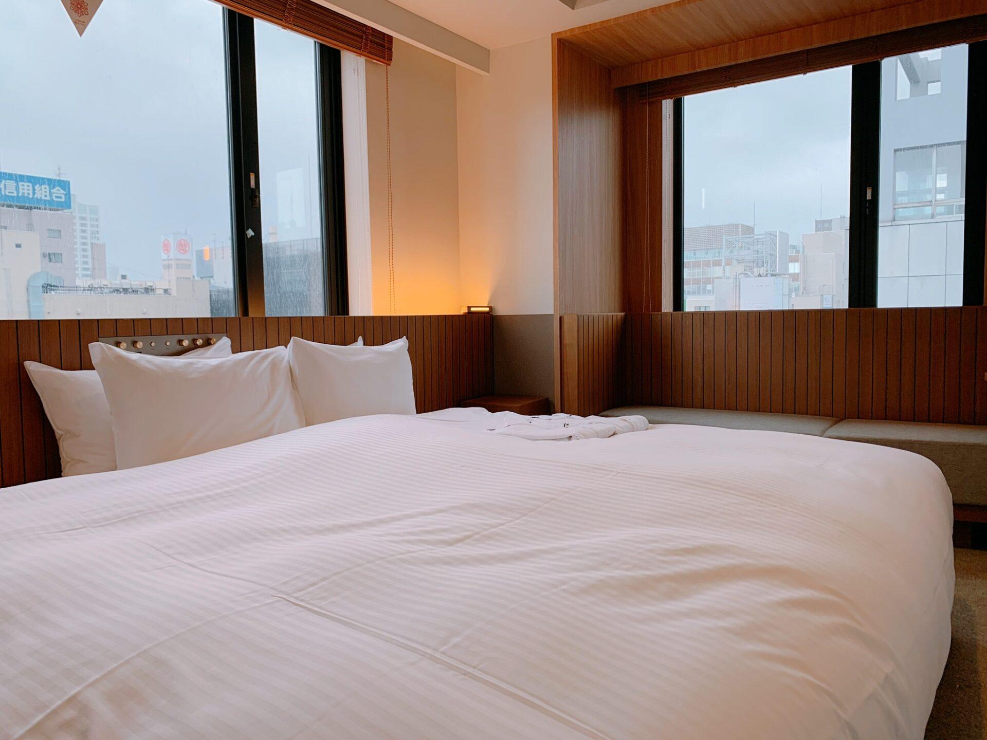 ビスポークホテル札幌 客室 ベッド