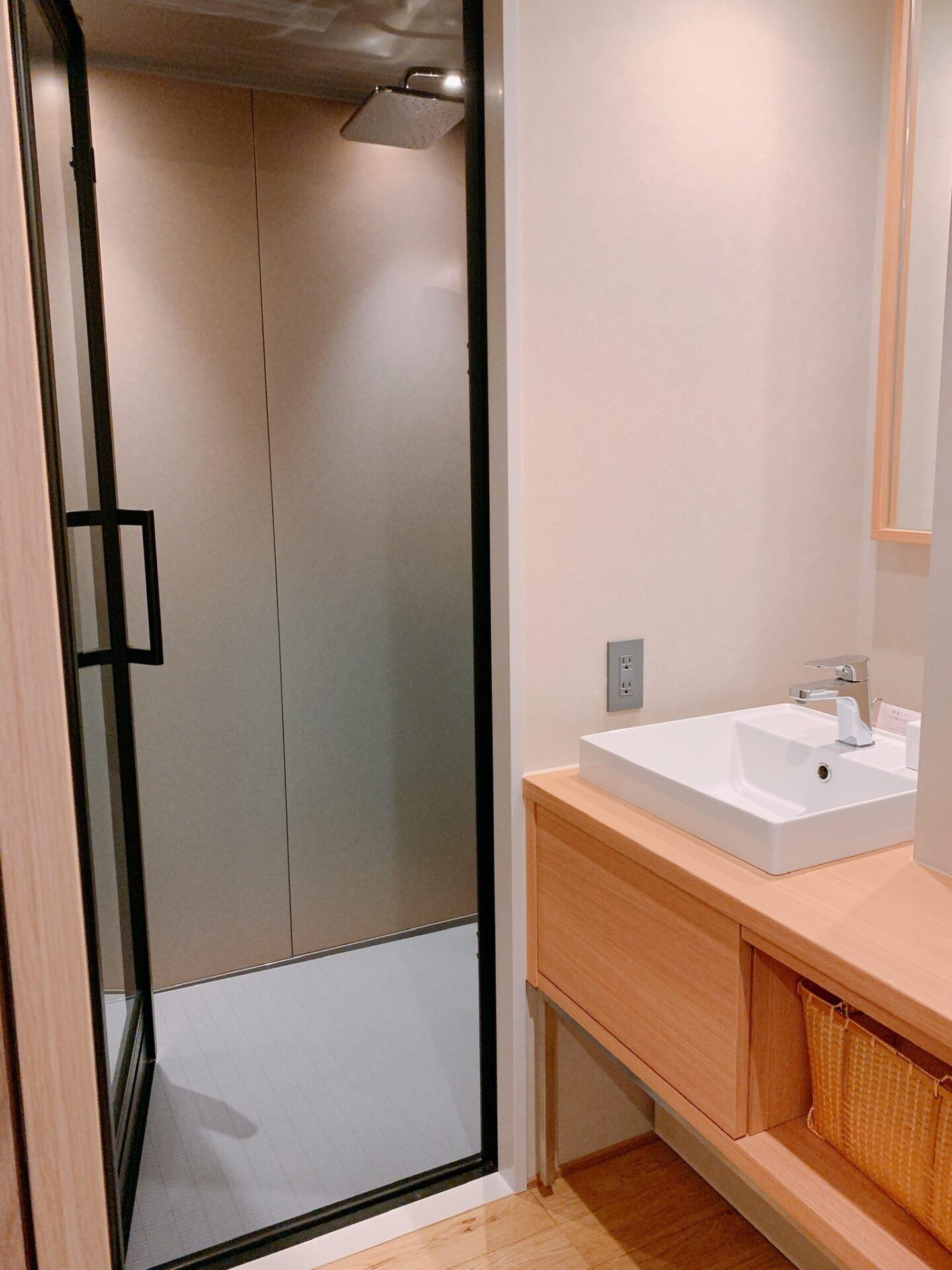 由縁札幌の客室にあるシャワールーム