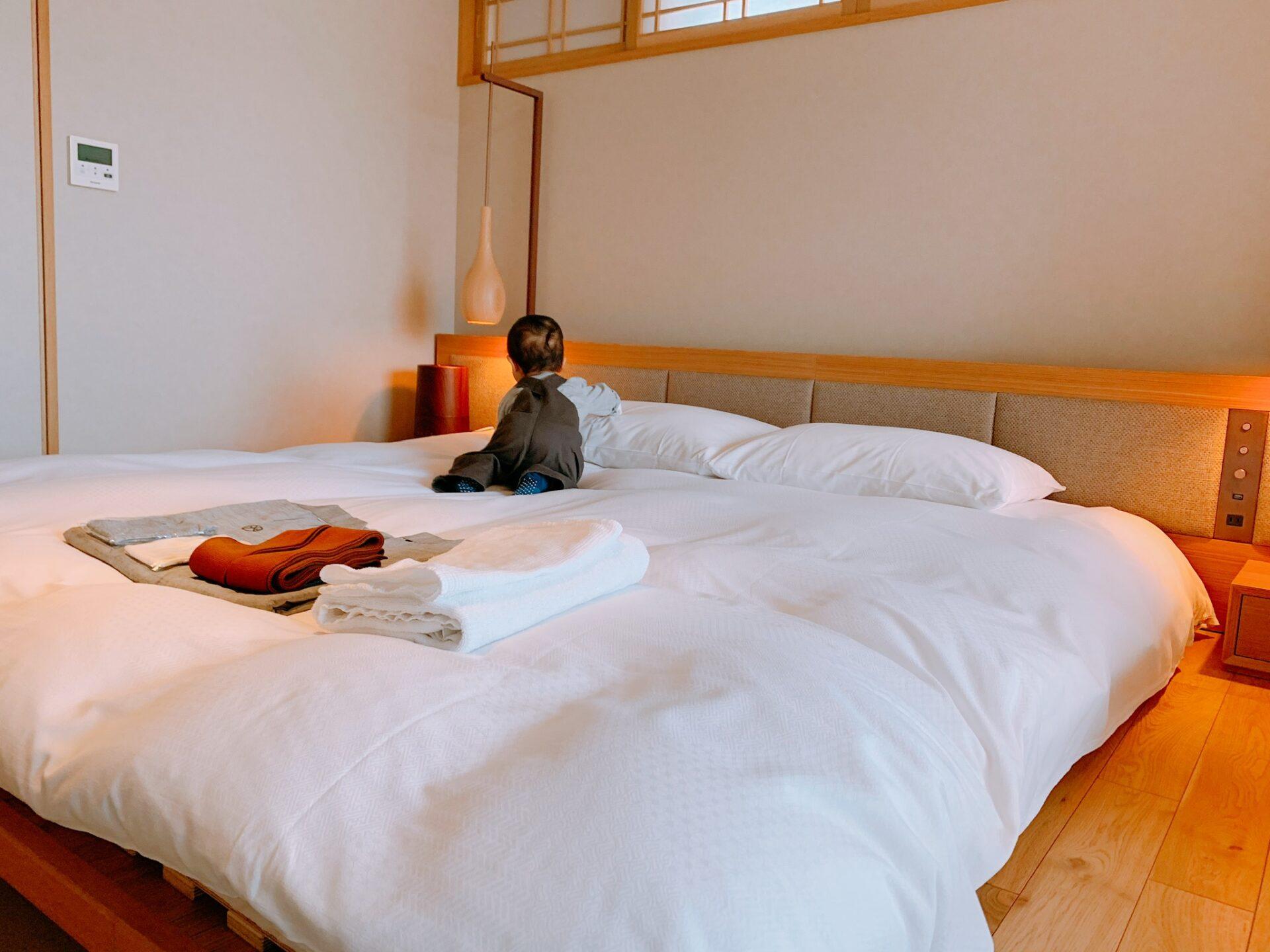 由縁札幌の客室にあるベッド