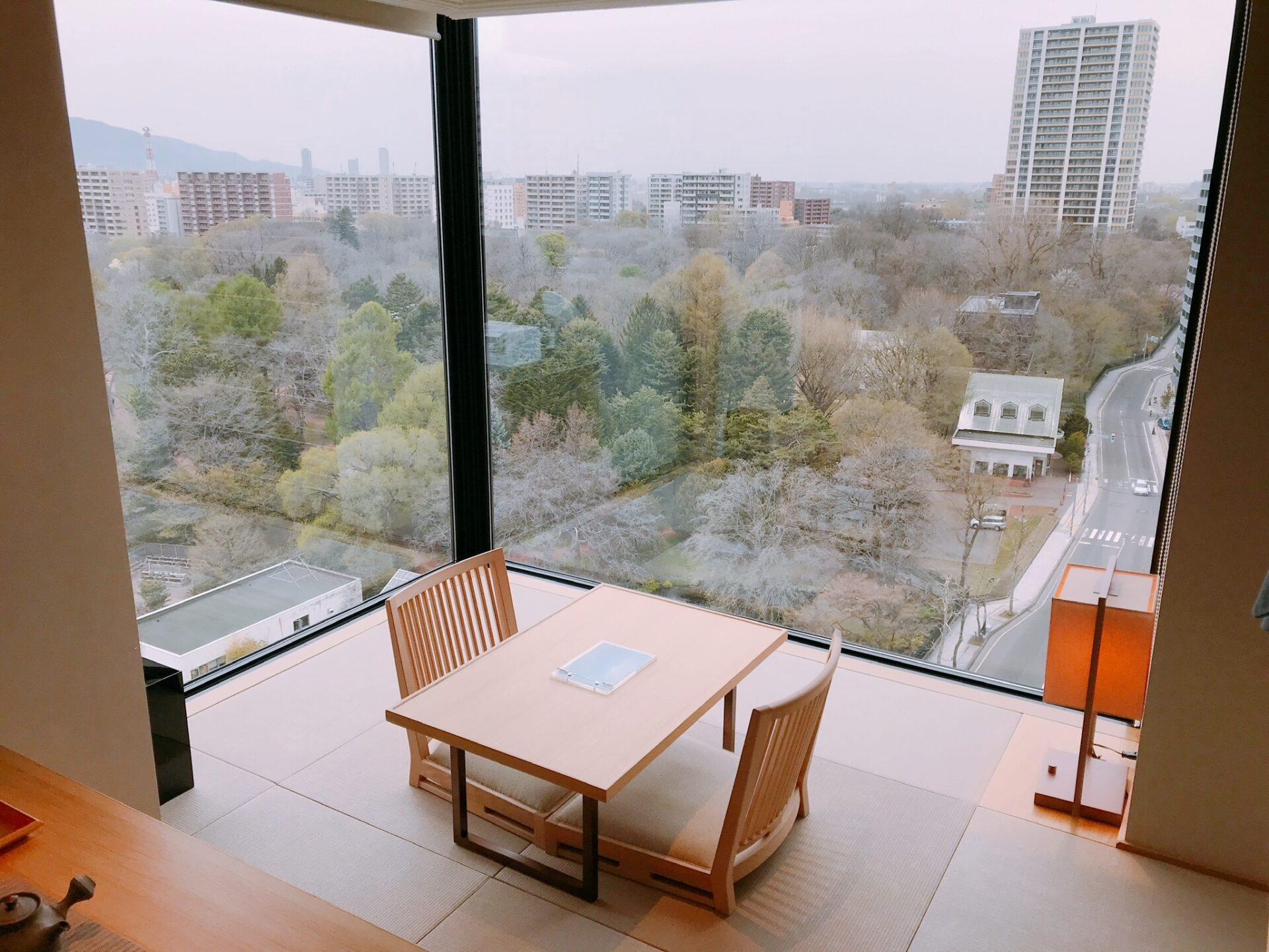 由縁札幌の客室から見える景色