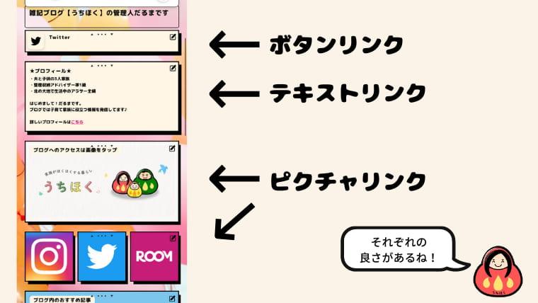 リットリンク 編集画面 リンク